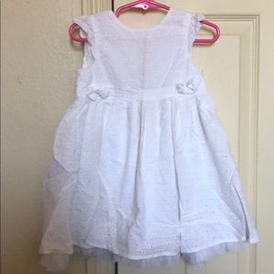 White eyelet dress size 18 months